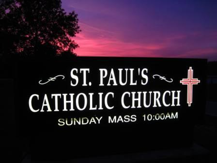 St Paul Church Sign