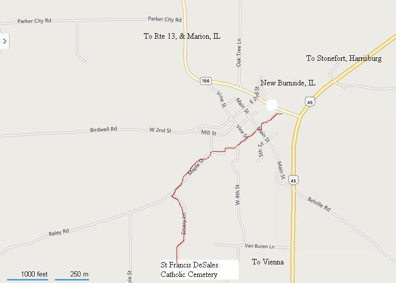 St Francis DeSales Cemetery Map